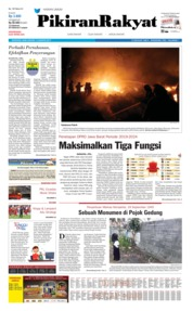 Cover Pikiran Rakyat 14 Agustus 2019