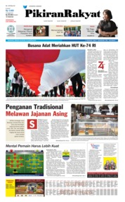Cover Pikiran Rakyat 18 Agustus 2019