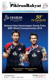 Cover Pikiran Rakyat 28 Agustus 2019