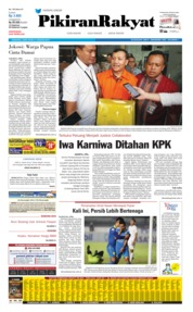 Cover Pikiran Rakyat 31 Agustus 2019
