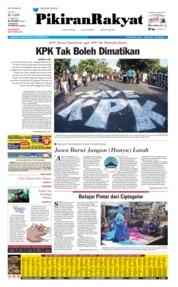 Cover Pikiran Rakyat 09 September 2019