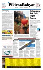 Cover Pikiran Rakyat 14 Oktober 2019
