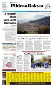 Cover Pikiran Rakyat 15 Oktober 2019