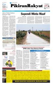 Cover Pikiran Rakyat 17 Oktober 2019