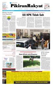 Cover Pikiran Rakyat 18 Oktober 2019
