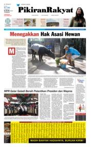 Cover Pikiran Rakyat 20 Oktober 2019