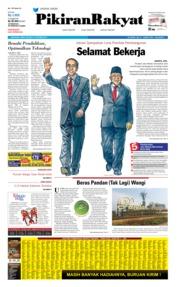 Cover Pikiran Rakyat 21 Oktober 2019
