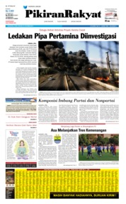 Cover Pikiran Rakyat 23 Oktober 2019