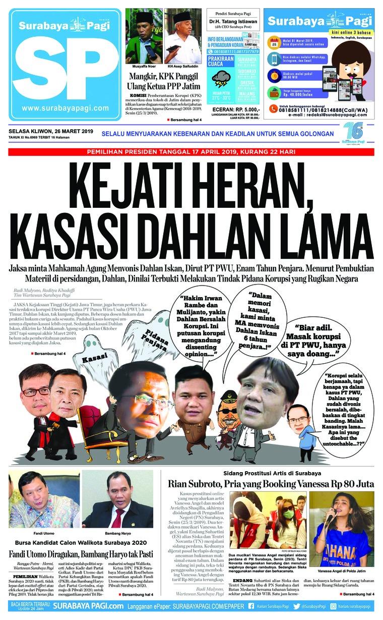 Koran Digital Surabaya Pagi 26 Maret 2019
