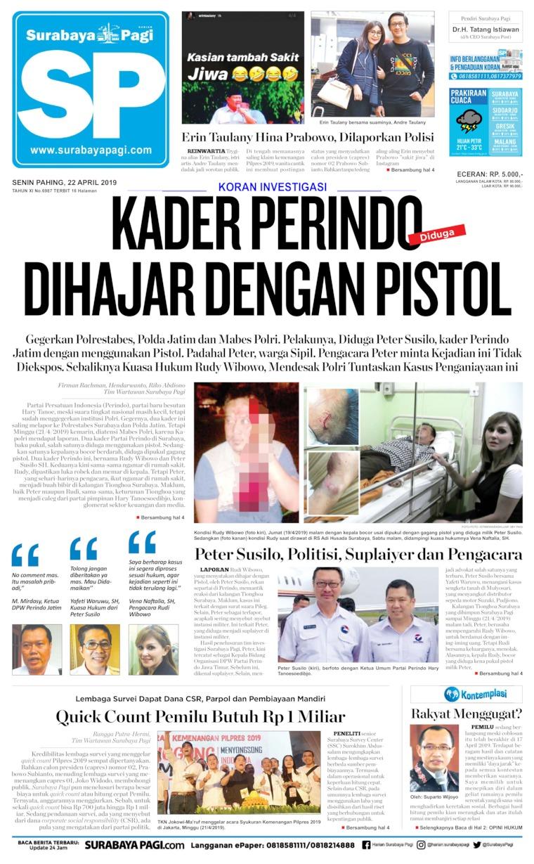 Surabaya Pagi Digital Newspaper 22 April 2019
