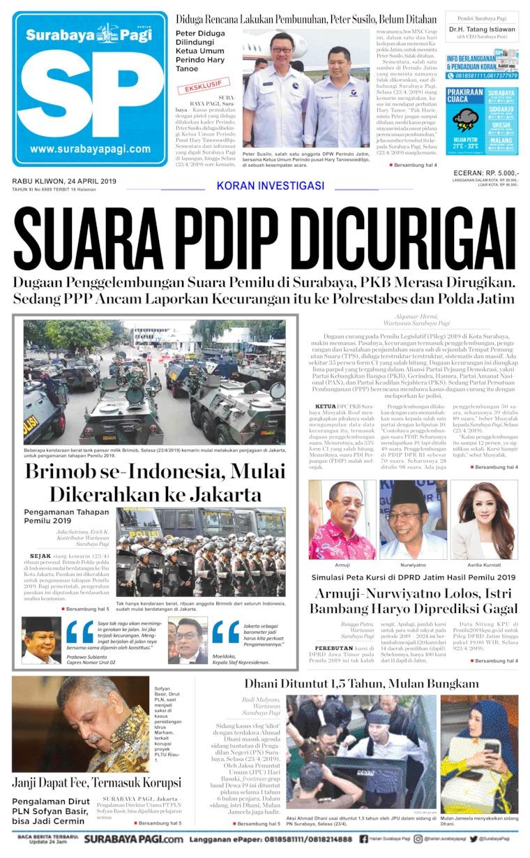 Surabaya Pagi Digital Newspaper 24 April 2019