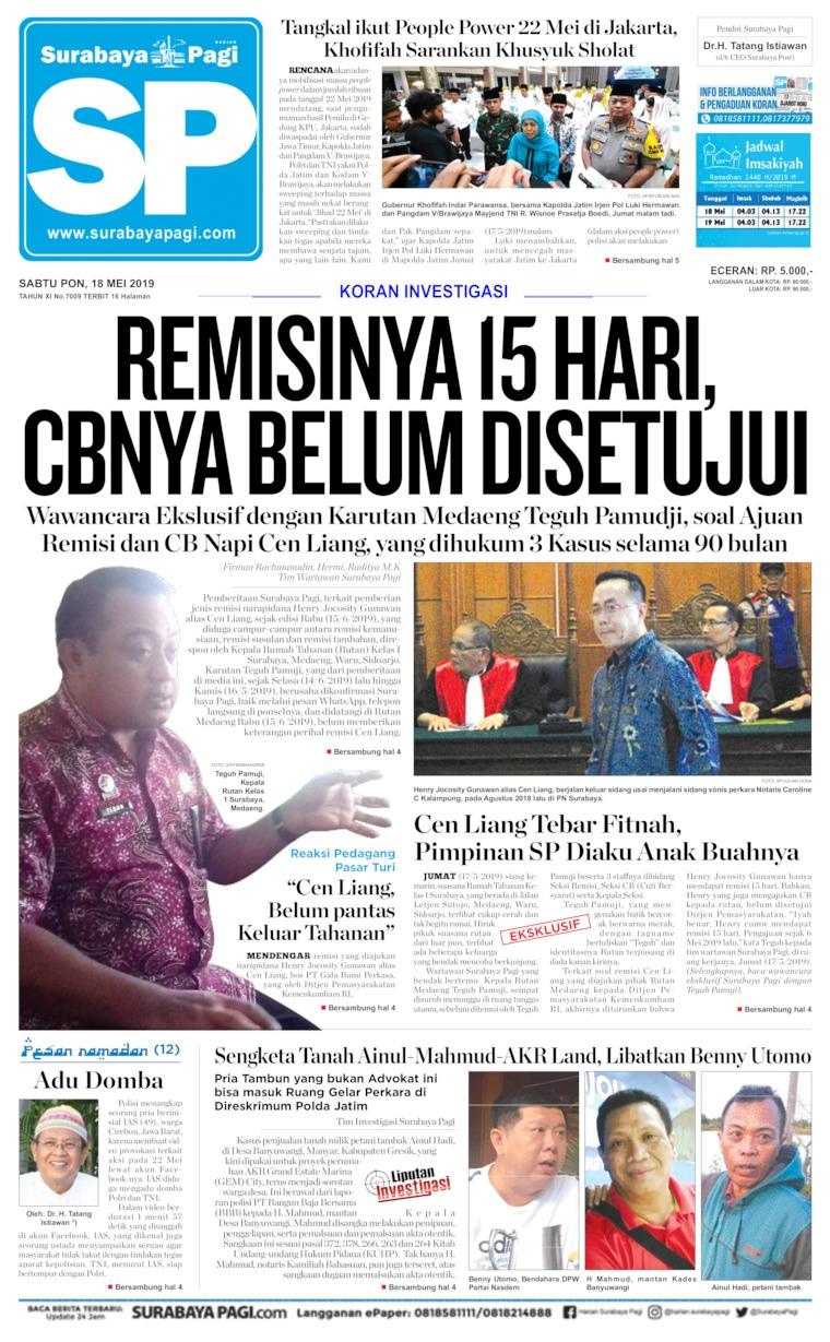 Surabaya Pagi Digital Newspaper 18 May 2019