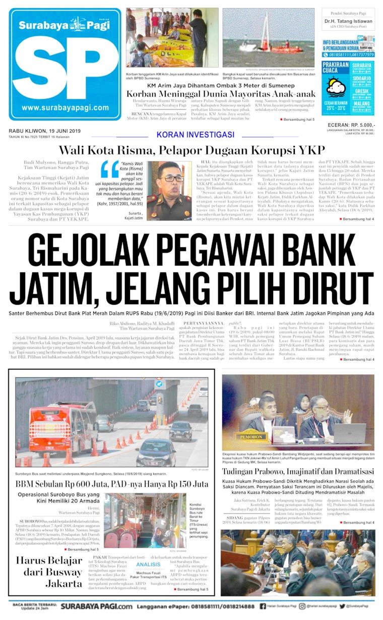 Surabaya Pagi Digital Newspaper 19 June 2019
