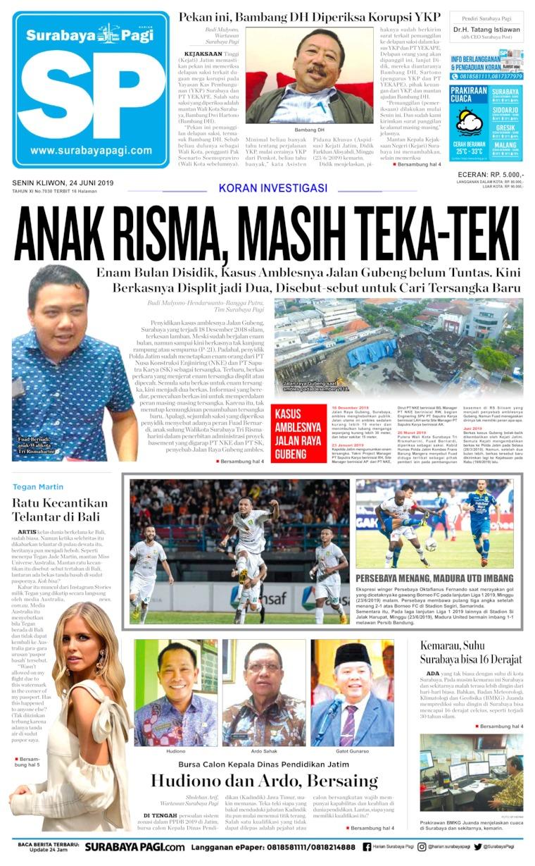 Surabaya Pagi Digital Newspaper 24 June 2019