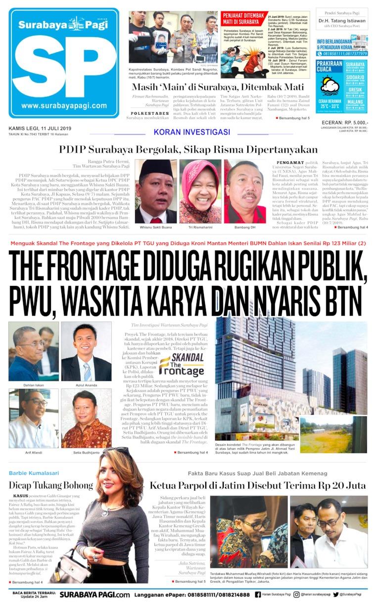Surabaya Pagi Digital Newspaper 11 July 2019
