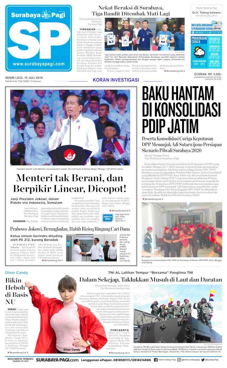 Koran Digital Surabaya Pagi 15 Juli 2019