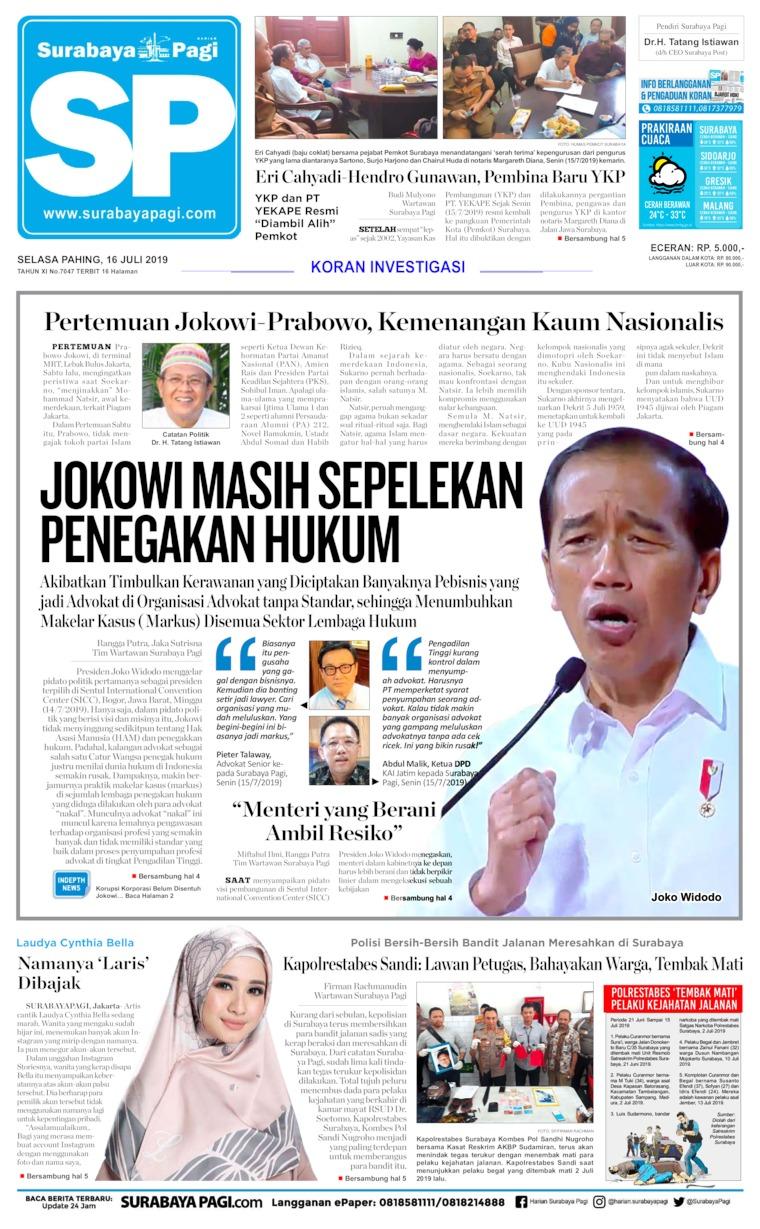 Surabaya Pagi Digital Newspaper 16 July 2019