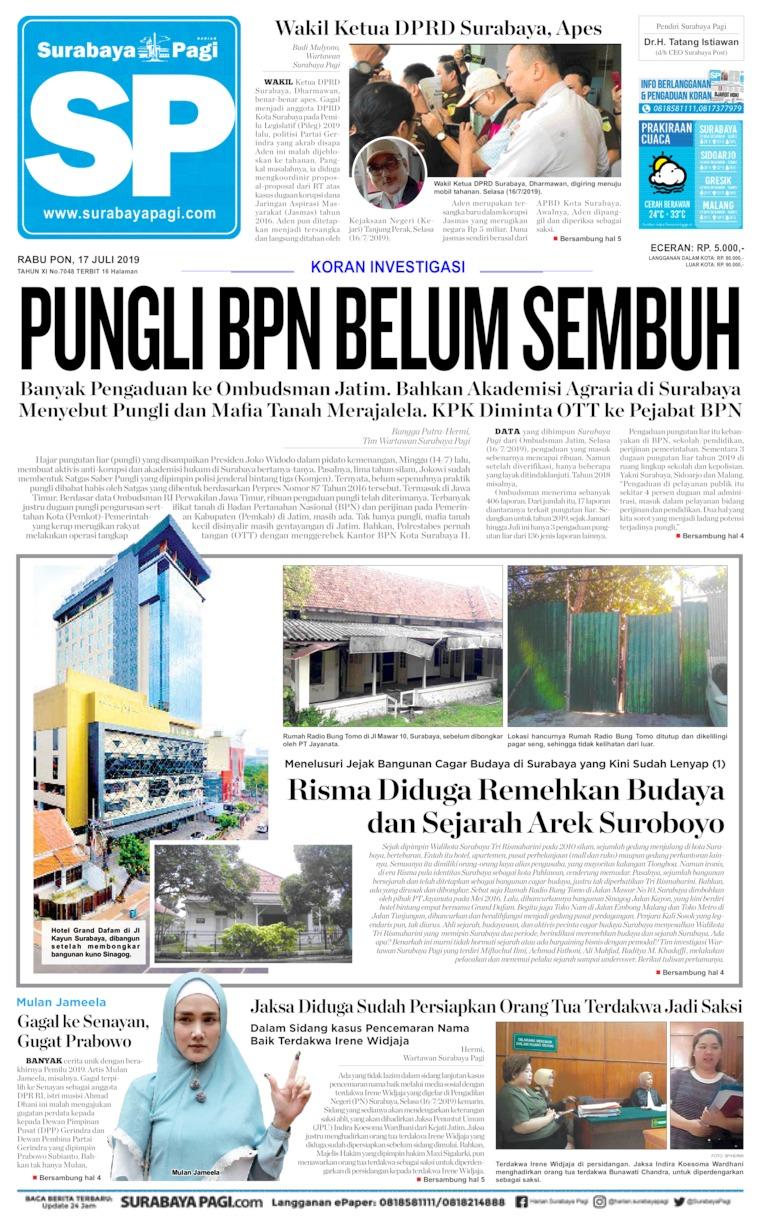 Koran Digital Surabaya Pagi 17 Juli 2019