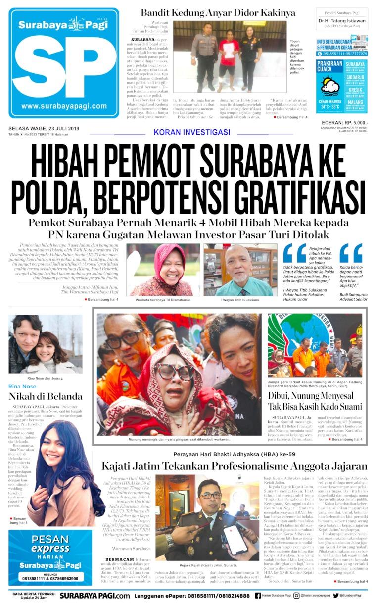 Koran Digital Surabaya Pagi 23 Juli 2019