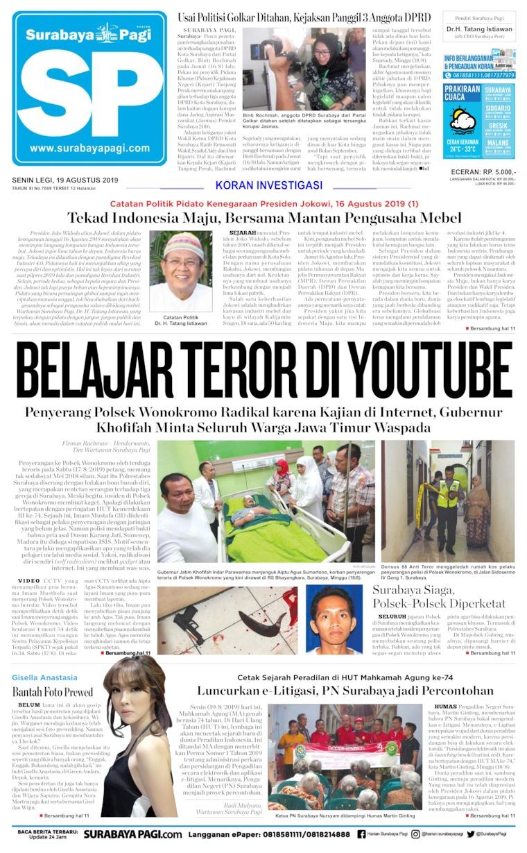 Surabaya Pagi Digital Newspaper 19 August 2019