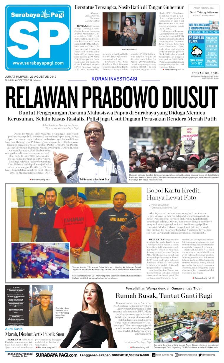 Surabaya Pagi Digital Newspaper 23 August 2019