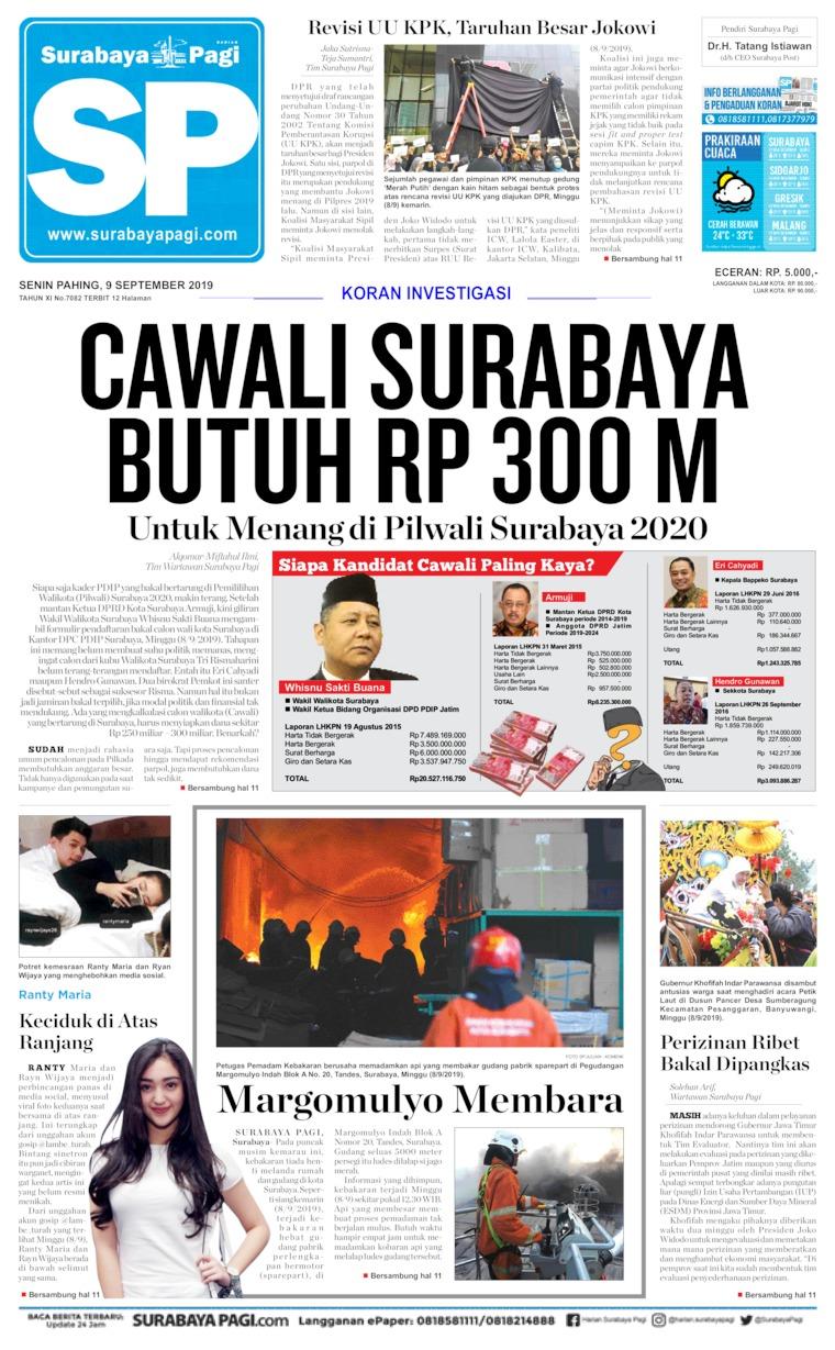 Koran Digital Surabaya Pagi 09 September 2019