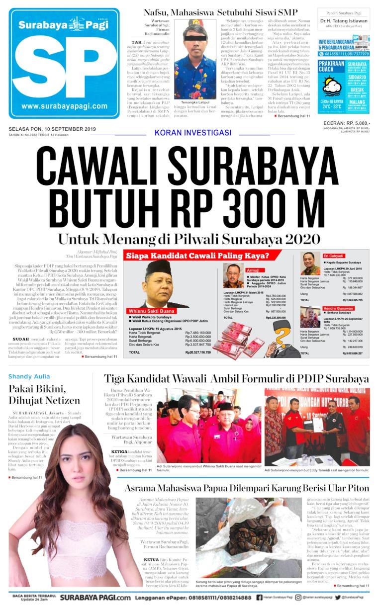 Koran Digital Surabaya Pagi 10 September 2019