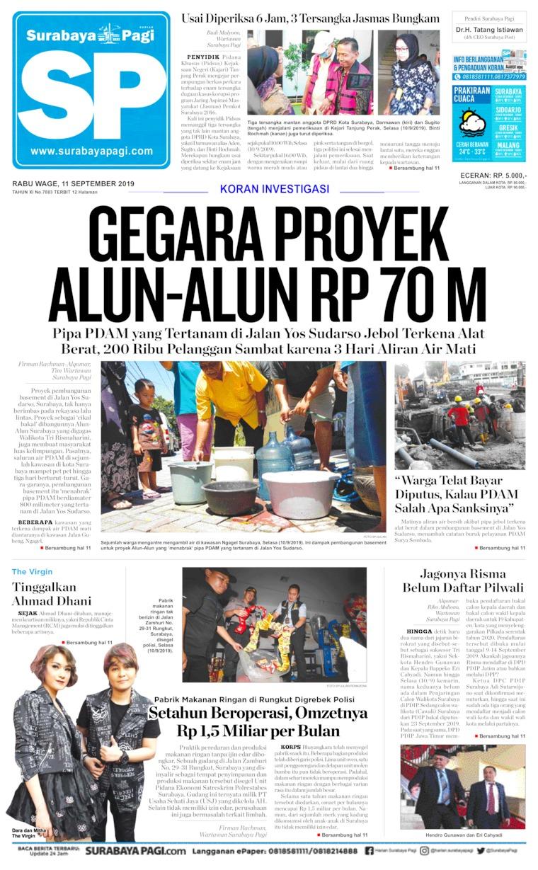 Surabaya Pagi Digital Newspaper 11 September 2019
