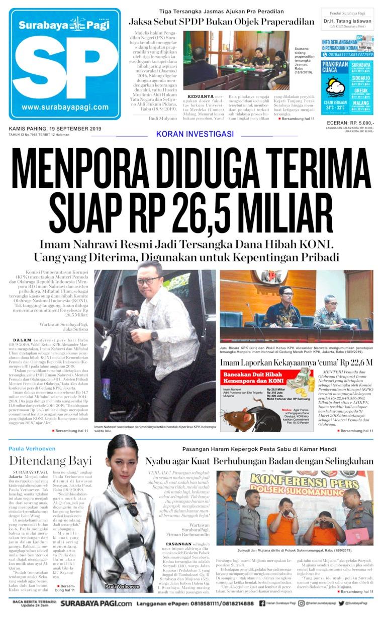 Koran Digital Surabaya Pagi 19 September 2019