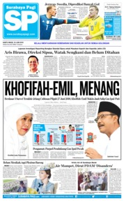 Cover Surabaya Pagi 23 Juni 2018