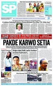 Cover Surabaya Pagi 14 Agustus 2018