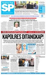 Cover Surabaya Pagi 21 Agustus 2018