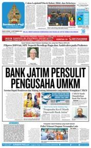 Cover Surabaya Pagi 12 September 2018