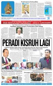 Cover Surabaya Pagi 14 September 2018
