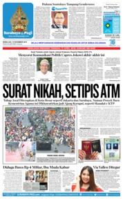 Cover Surabaya Pagi 12 November 2018