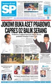 Cover Surabaya Pagi 18 Februari 2019