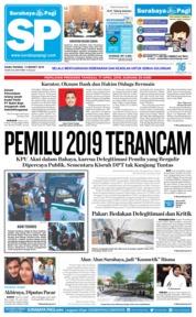 Cover Surabaya Pagi 13 Maret 2019