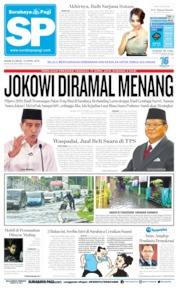 Cover Surabaya Pagi 15 April 2019