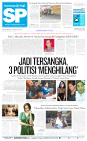 Cover Surabaya Pagi 27 Agustus 2019