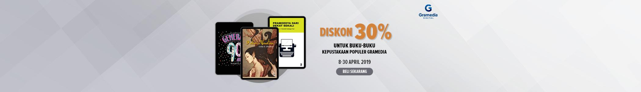 Diskon internal publisher - Kepustakaan Populer Gramedia